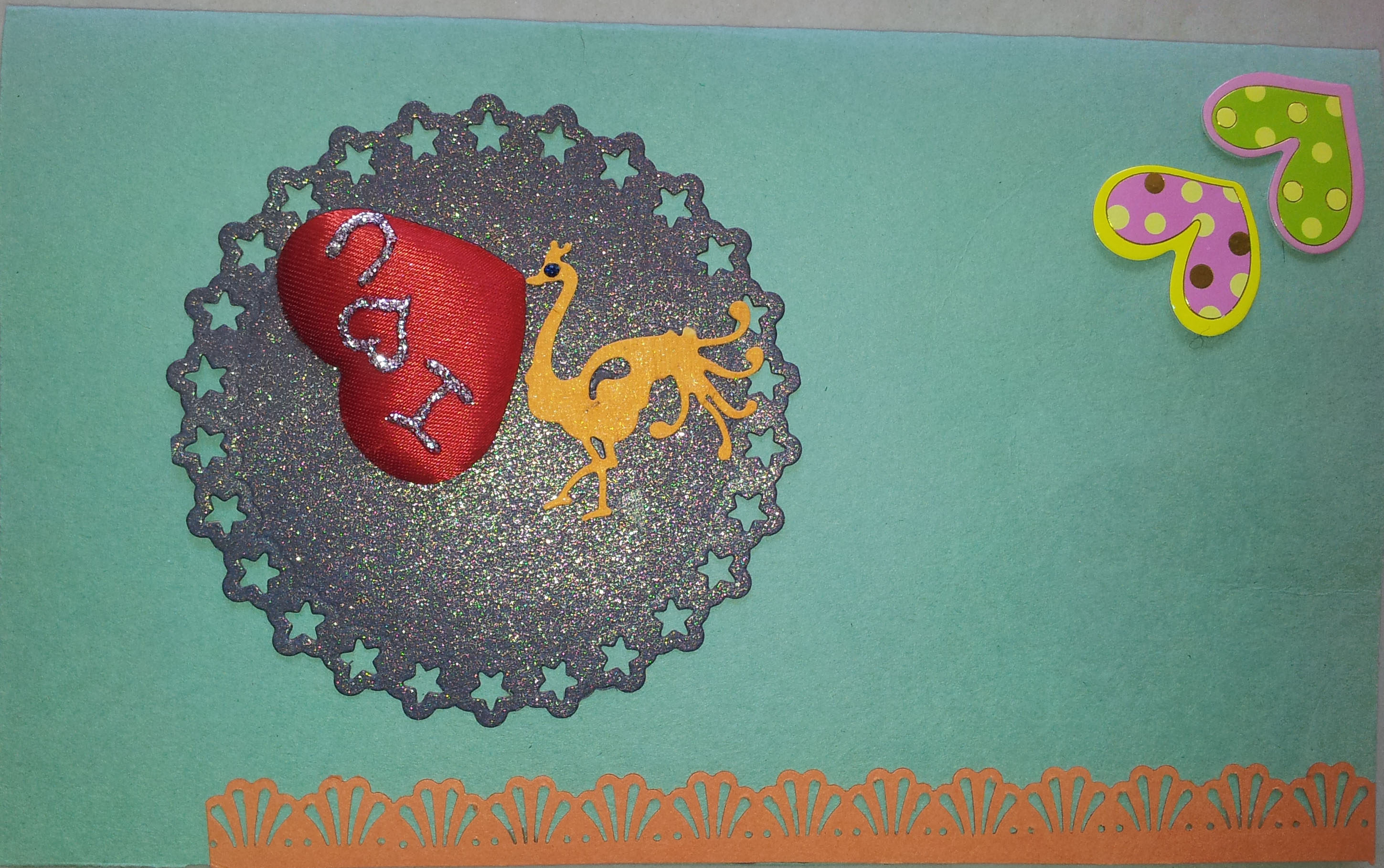 Admirable hand made card in Valentine Cards