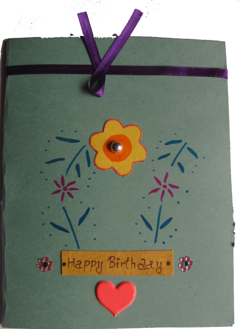 Beautiful Birthday Card(blue wrap) in For Wife