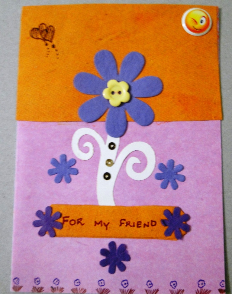 A Cute Floral Friendship card