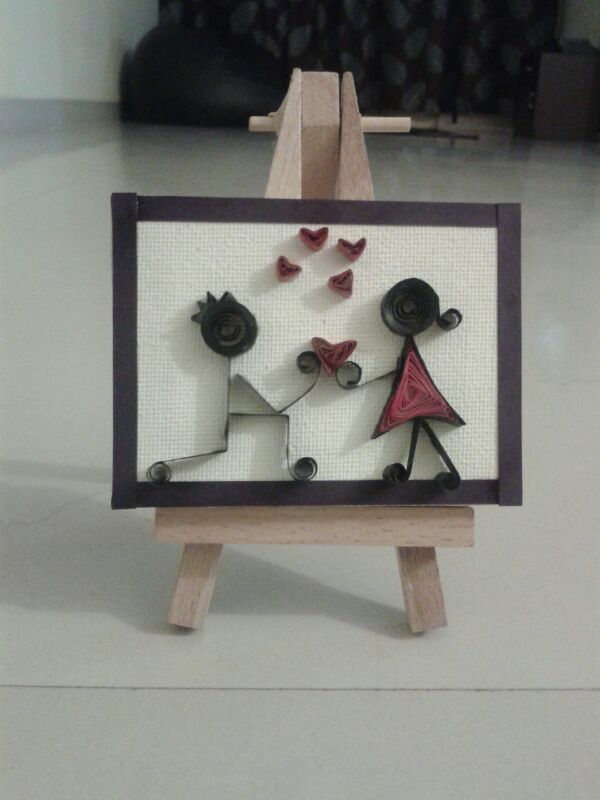 Canvas Miniature in Valentine Cards