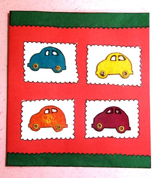 Four Cars Card in For Kids