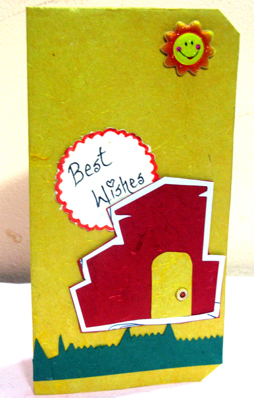 Smiley Best Wishes Card in For Kids