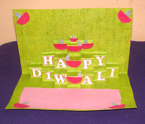 Diwali Pop-Up Card in Diwali Cards