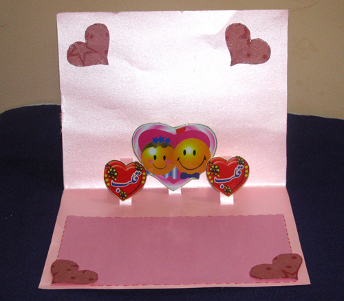Heart Pop-Up Card in Valentine Cards