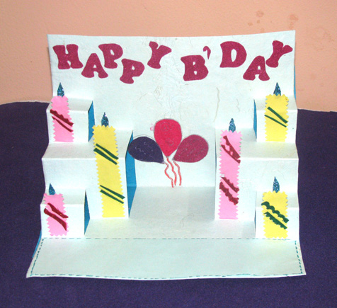 Buy Ballon And Candle Pop Up Card