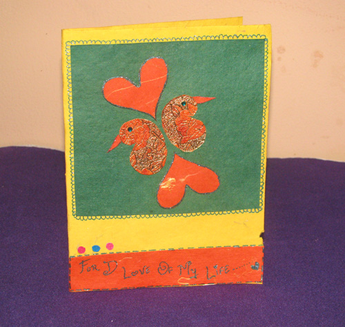PeaCock Heart Card in Valentine Cards