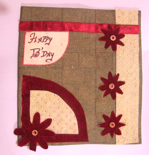 Red Flowers Birthday card in For Father