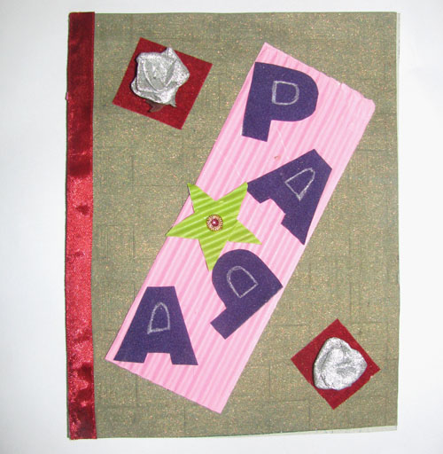 Papa Lettered Card in For Father