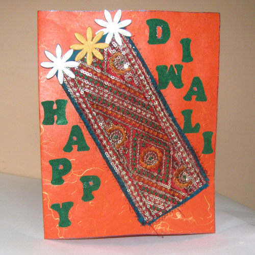 Diwali 3 Star handmade Card in Diwali Cards