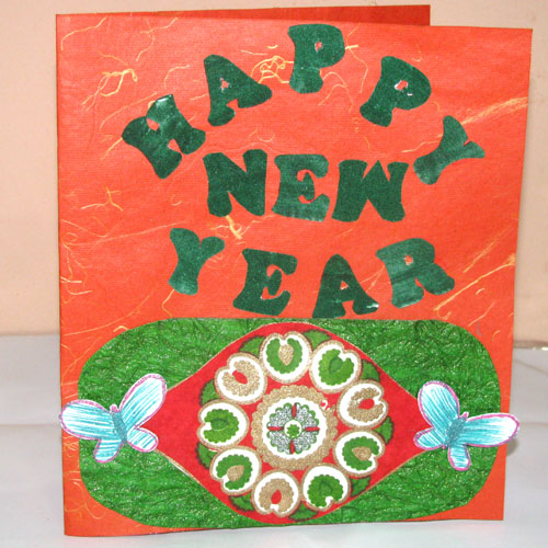 Butterfly New Year Card in New Year
