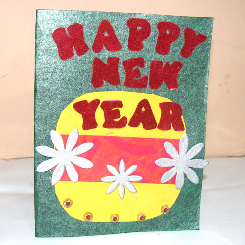 Happpy New Year letter Card in New Year