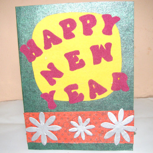 Happy New Year Card in New Year