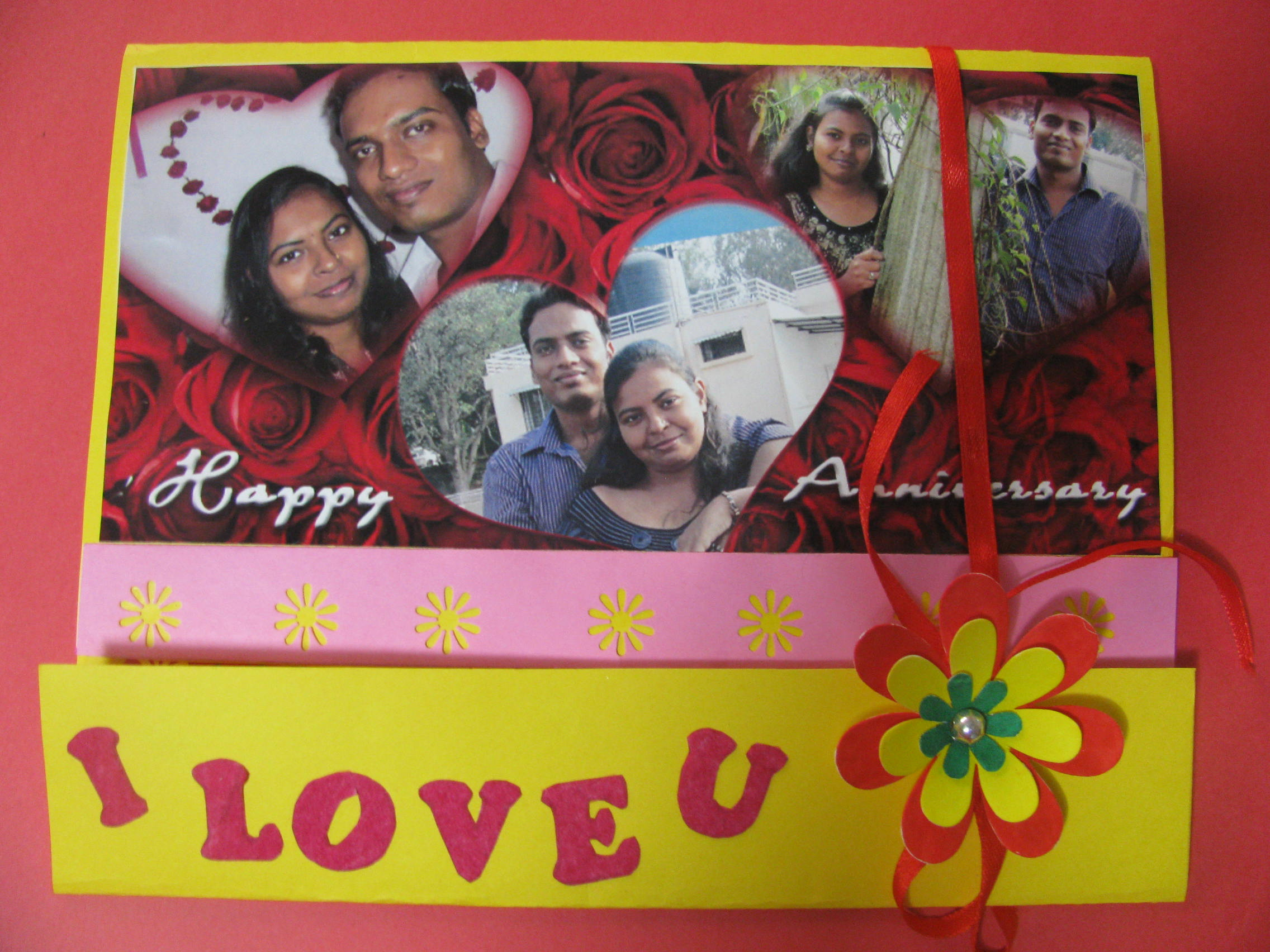 Personalized anniversary card in Valentine Cards