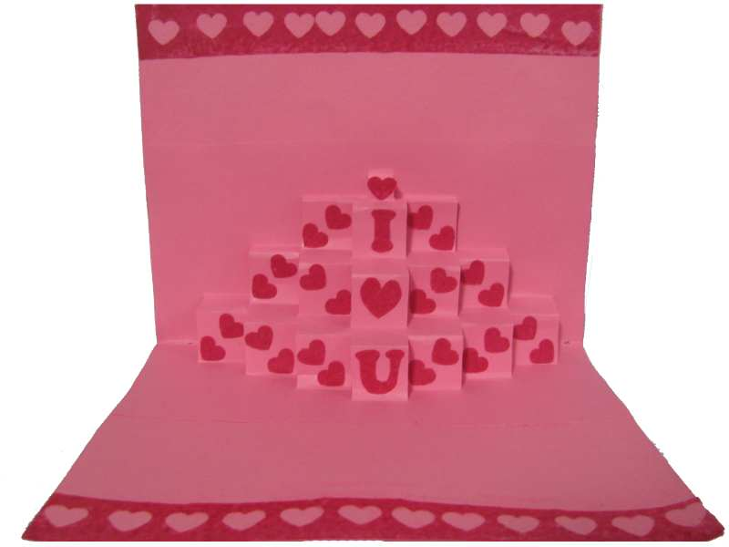 Love Pop Up card in Valentine Cards