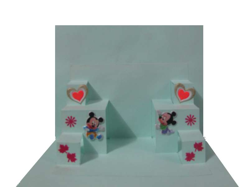 Curtain pop up card in Valentine Cards