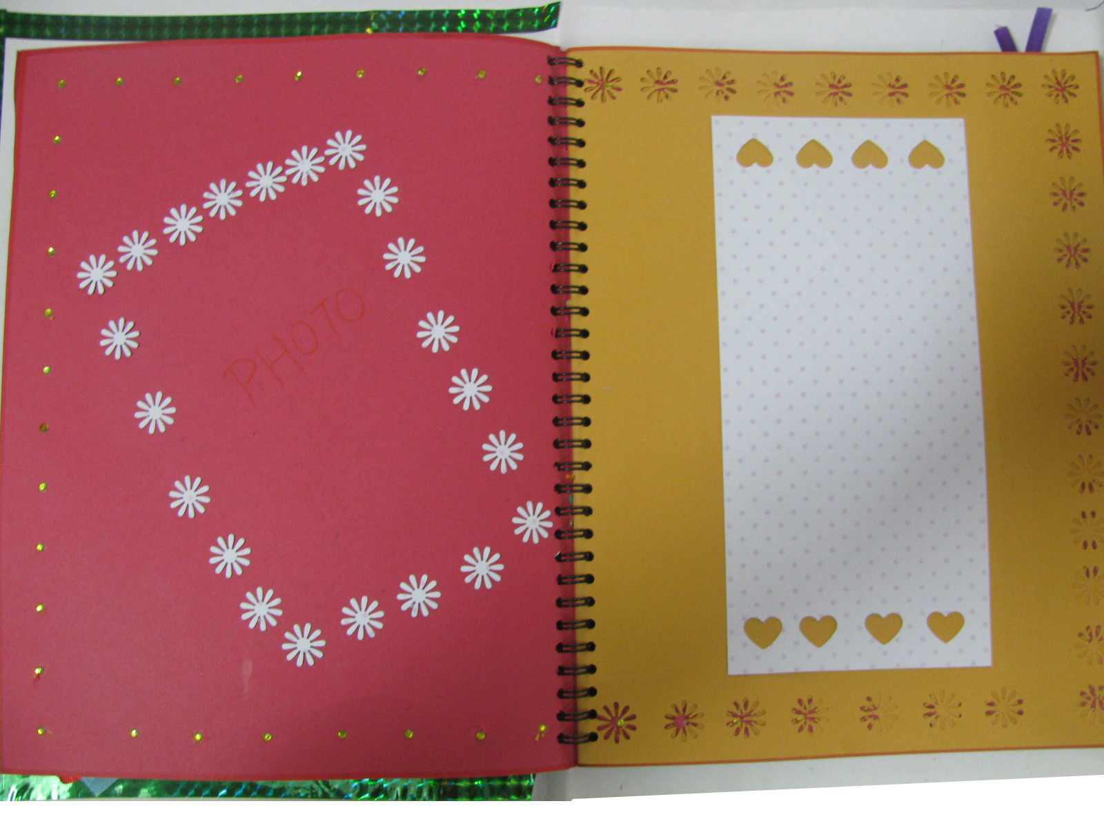 Handmade scrapbook in
