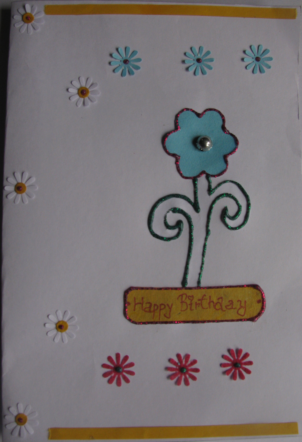 Floral Birthday Card in For Daughter