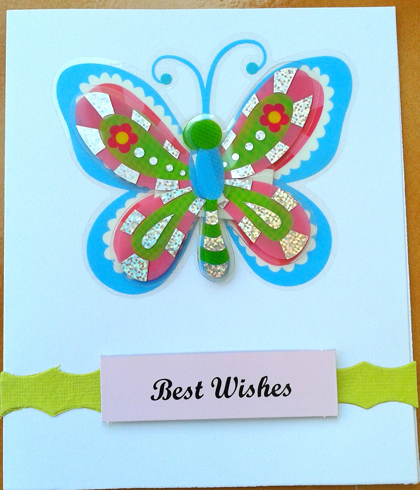 Butterfly card in