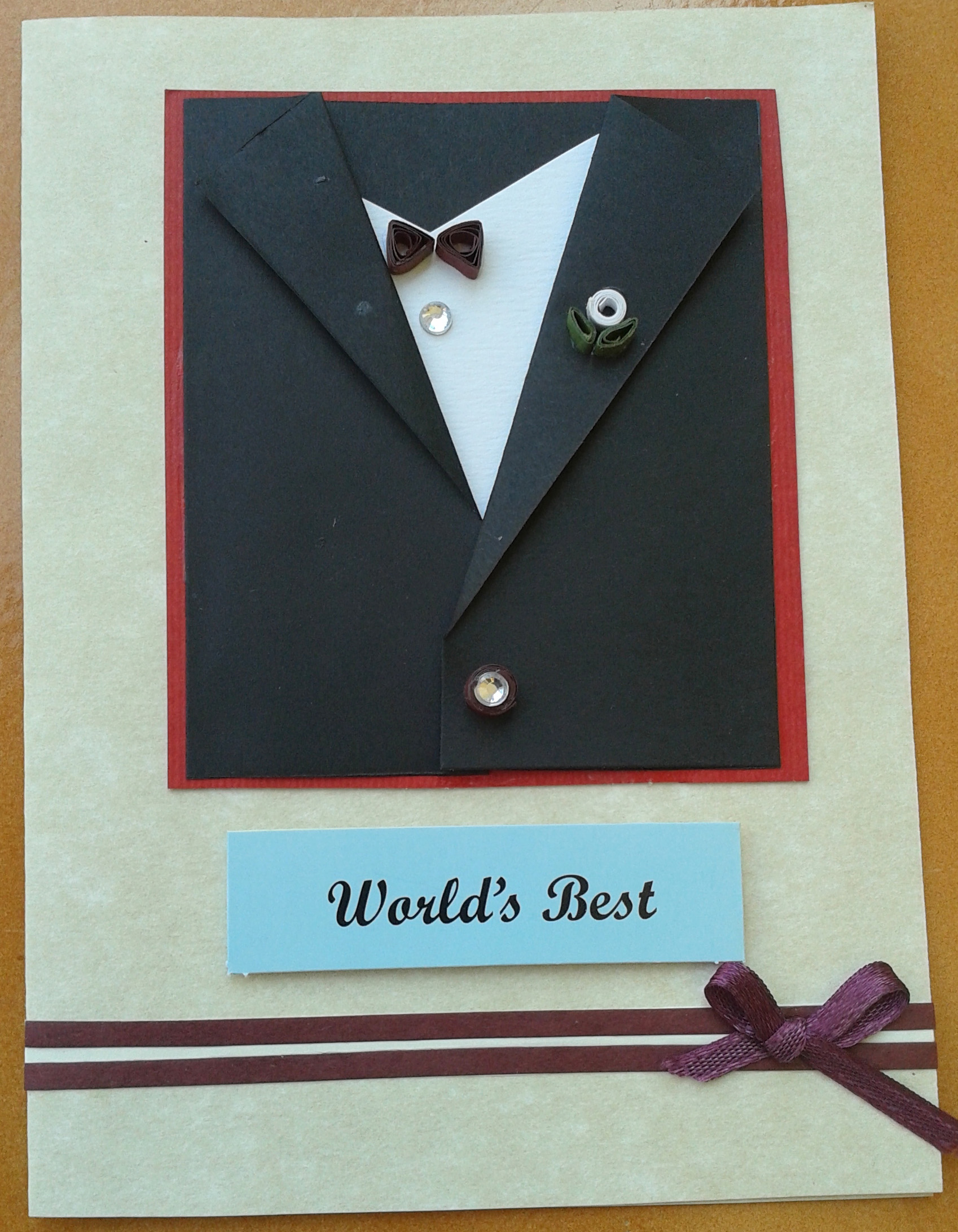 Buy Worlds Best Black suit card for him ShipMyCardCom – Handmade Birthday Card for Lover