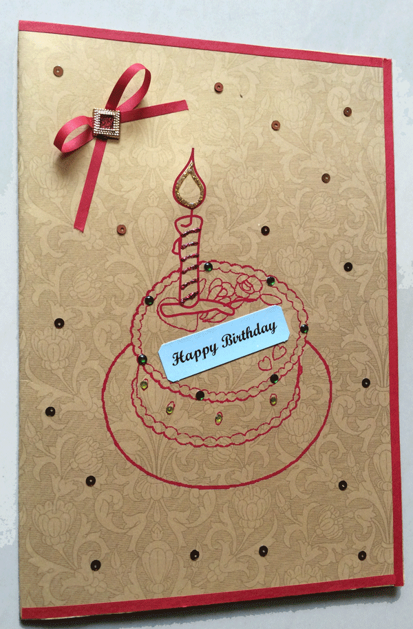 Birthday Card Images With Cake : Handmade Birthday Cake Card - ShipMyCard.Com