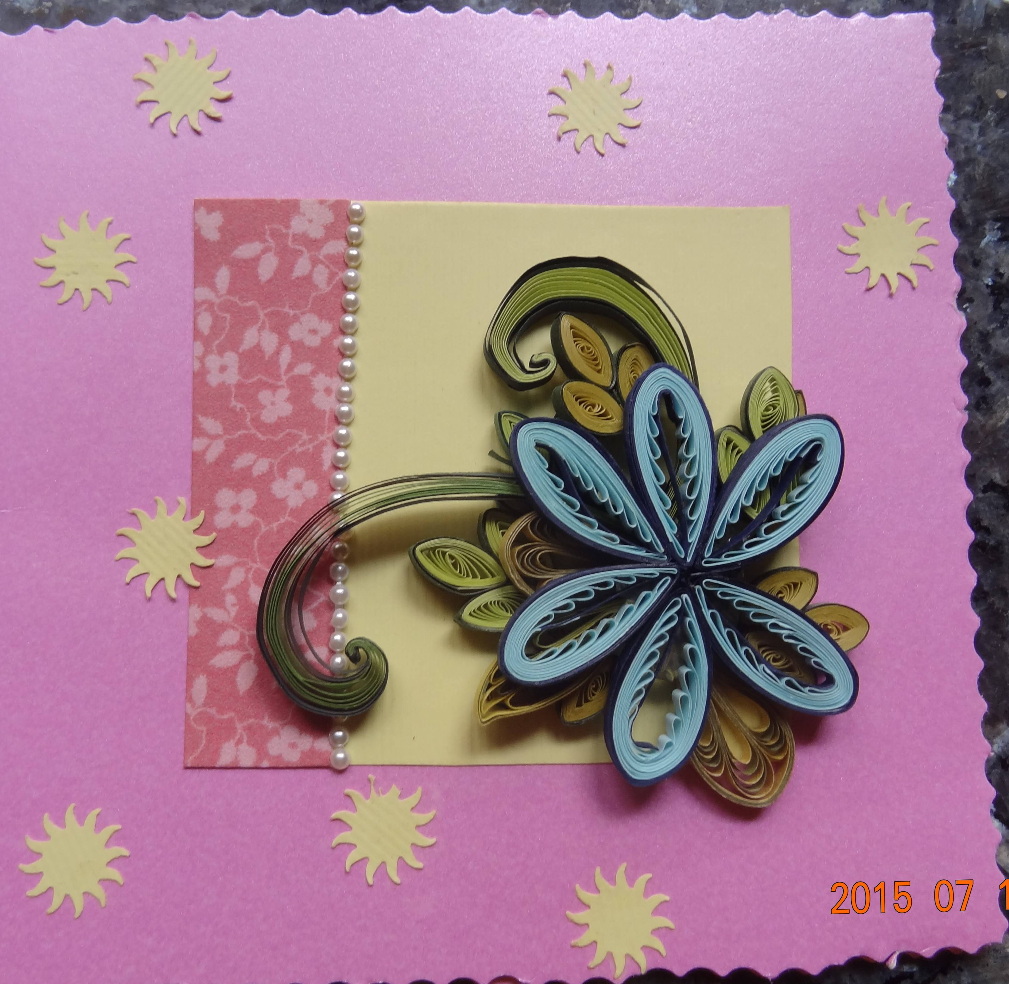 Handmade Quilled multipurposer card