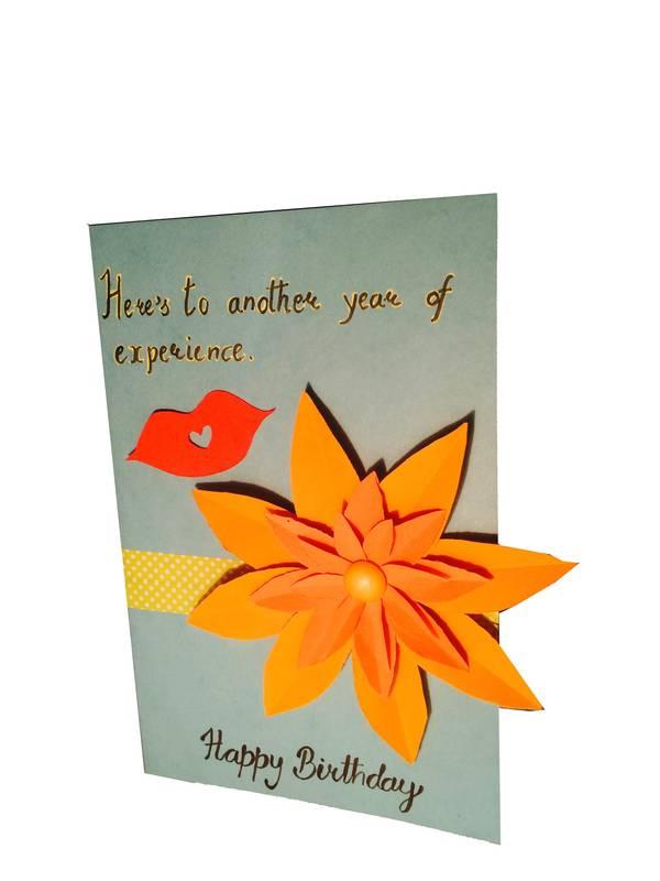 FLOWER BIRTHDAY CARD 2