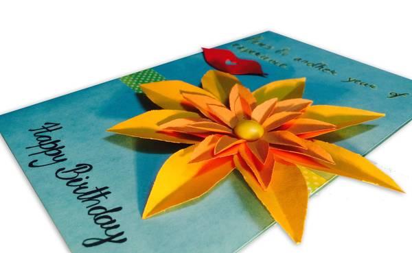 FLOWER BIRTHDAY CARD 3